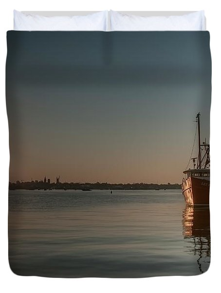 Sunrise Over New Bedford, Duvet Cover