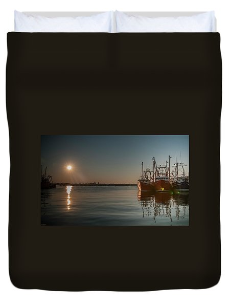 Sunrise Over New Bedford, Duvet Cover