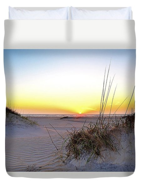 Sunrise Over Pea Island Duvet Cover