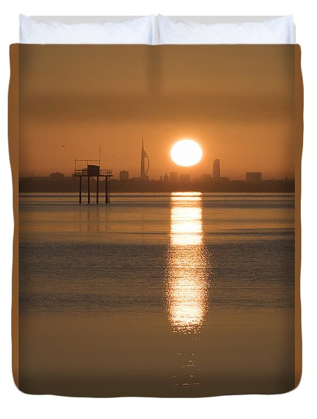 Sunrise Over Portsmouth Duvet Cover