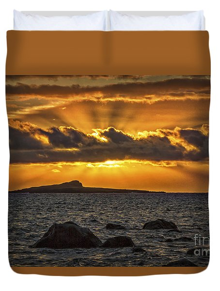 Sunrise Over Rabbit Head Island Duvet Cover