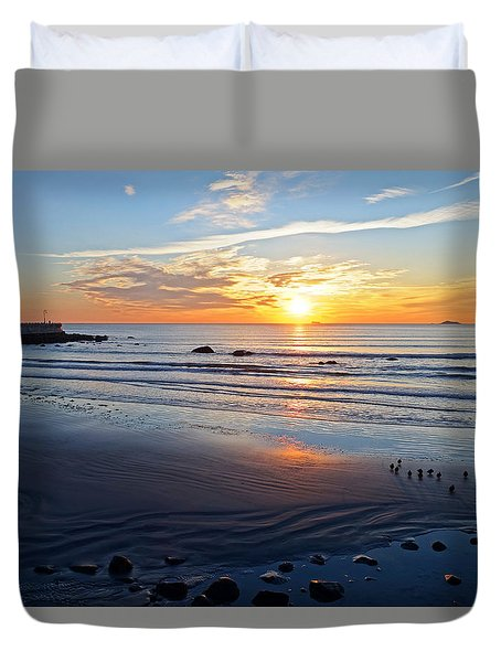 Sunrise Over Red Rock Park Lynn Shore Drive Duvet Cover