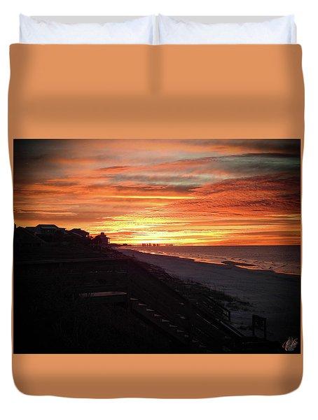 Sunrise Over Santa Rosa Beach Duvet Cover