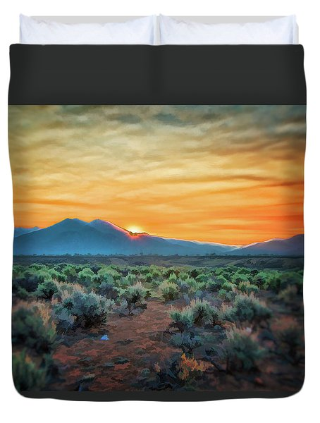 Sunrise Over Taos II Duvet Cover
