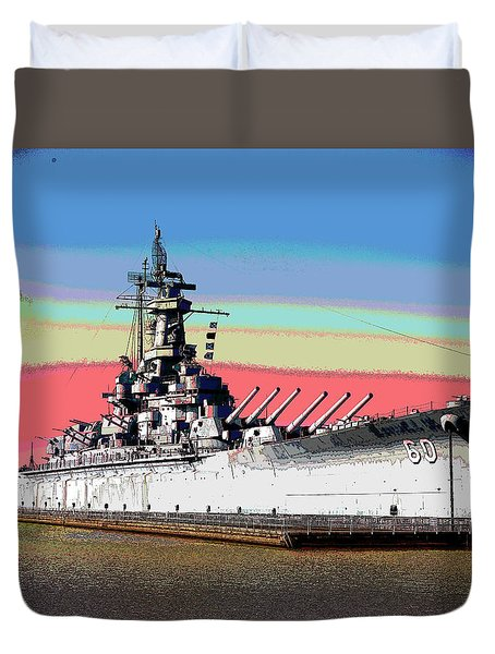 Sunrise Over The Alabama Duvet Cover