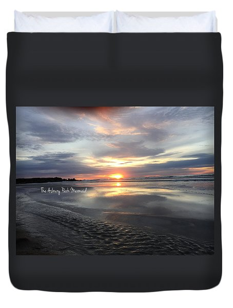 Sunrise Over The Ap Waterfront Duvet Cover