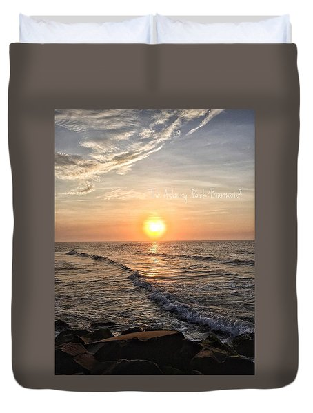 Sunrise Over The Asbury Park Waterfront II Duvet Cover