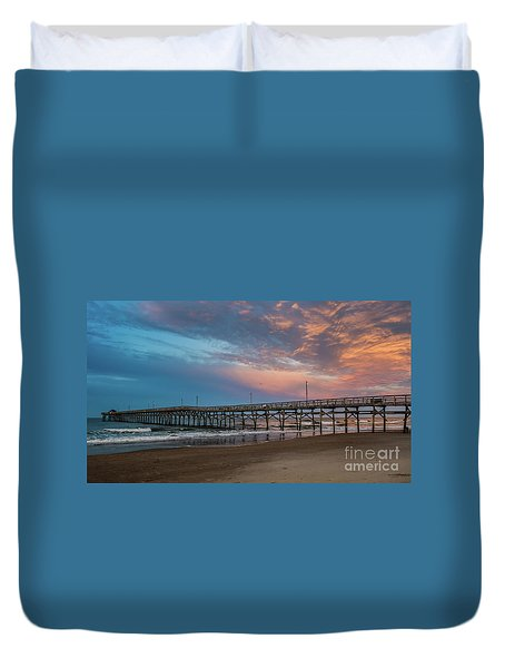 Sunset Over The Atlantic Duvet Cover by Scott and Dixie Wiley