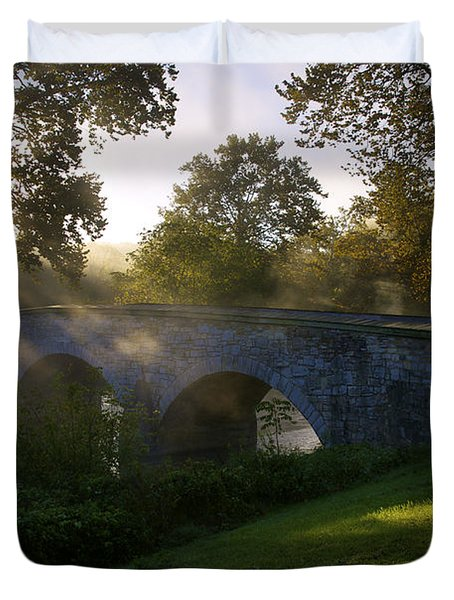 Sunrise Over The Burnside Bridge Duvet Cover