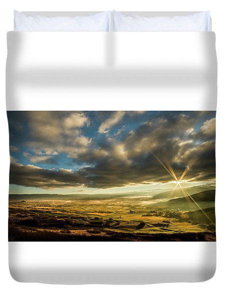 Sunrise Over The Heber Valley Duvet Cover