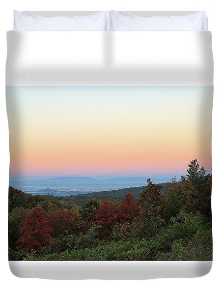 Sunrise Over The Shenandoah Valley Duvet Cover