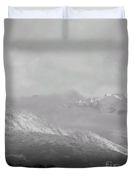 Sunrise Over The Sierras Duvet Cover by Debby Pueschel