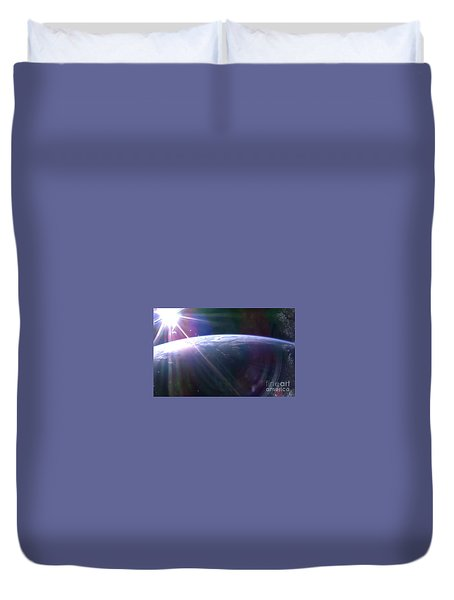 Sunrise Over The South Pacific Duvet Cover