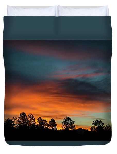 Sunrise Over The Southern San Juans Duvet Cover