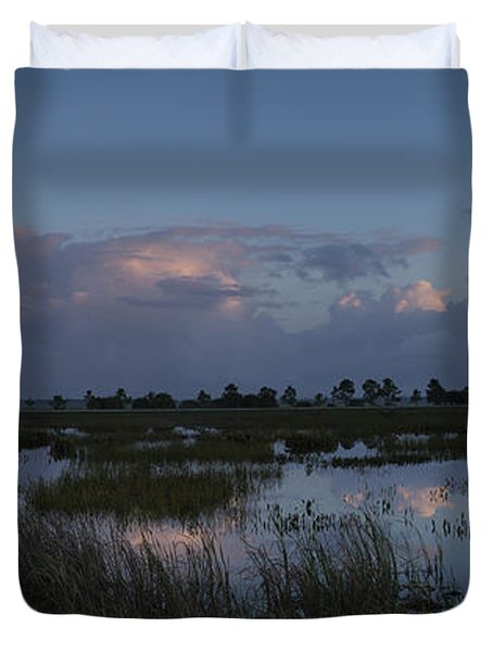 Sunrise Over The Wetlands Duvet Cover