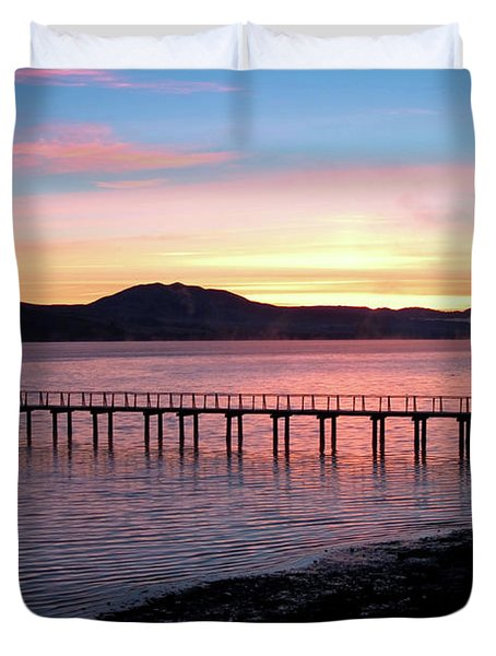 Sunrise Over Tomales Bay Duvet Cover