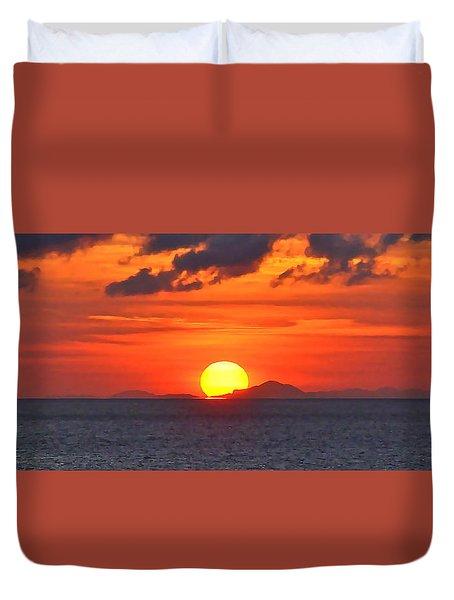 Sunrise Over Western Cuba Duvet Cover