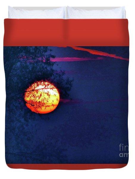 Sunrise Paint Duvet Cover