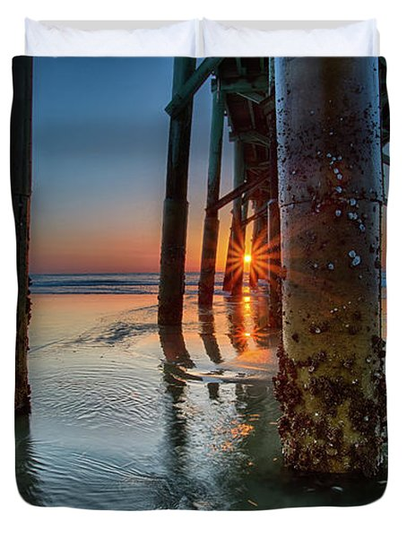 Sunrise Pier Duvet Cover