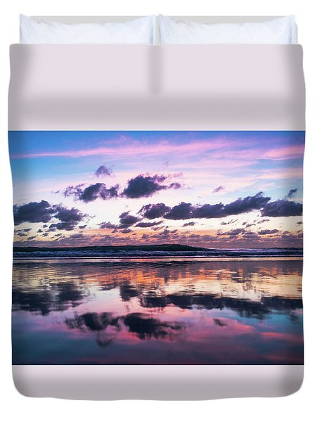 Sunrise Pink Wisps Delray Beach Florida Duvet Cover