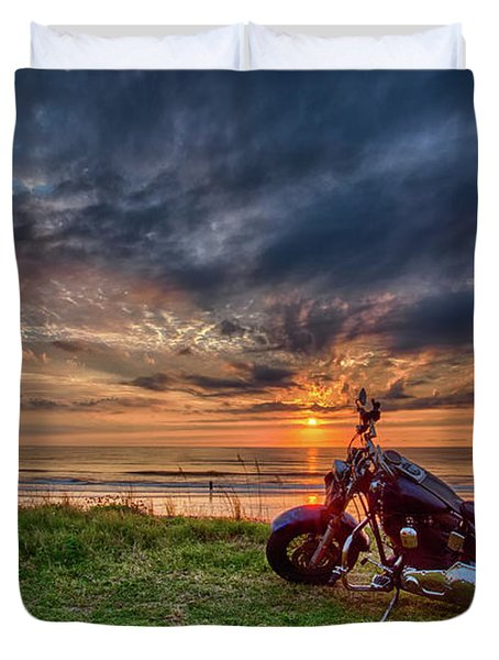 Sunrise Ride Duvet Cover
