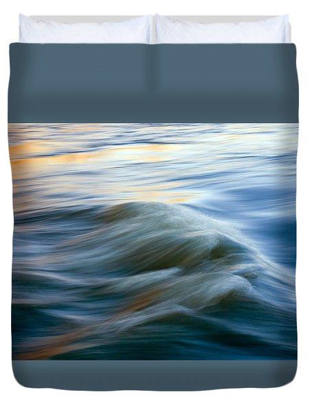 Sunrise Ripple Duvet Cover by Mike  Dawson