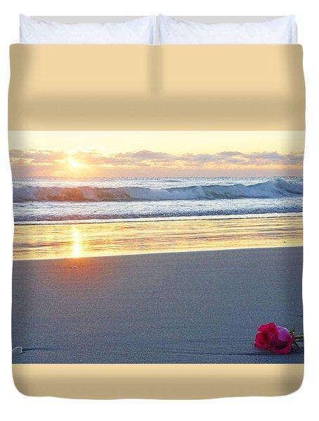 Sunrise Rose Duvet Cover