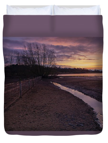 Sunrise, Rutland Water Duvet Cover