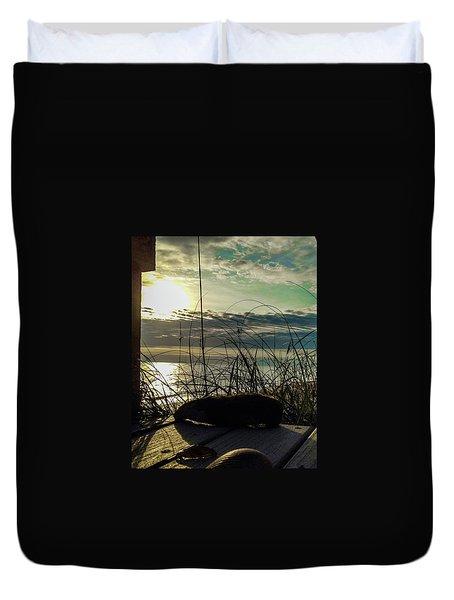 Sunrise Sea Shells Duvet Cover