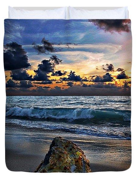Sunrise Seascape Wisdom Beach Florida C3 Duvet Cover