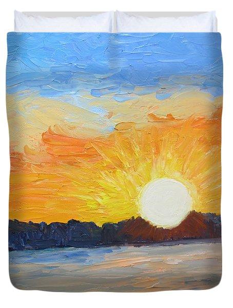 Sunrise At Pine Point Duvet Cover