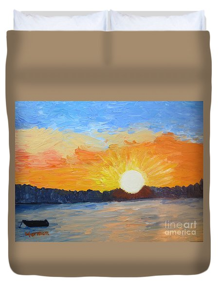 Sunrise At Pine Point Duvet Cover