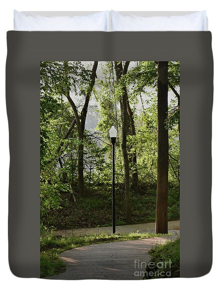 Duvet Cover featuring the photograph Sunrise Service by Skip Willits