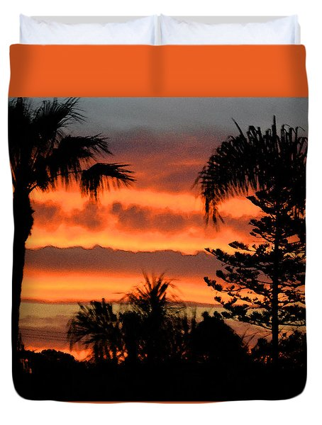 Sunrise Sherbert Duvet Cover by Bill Dutting
