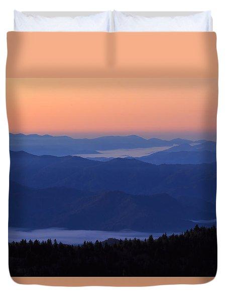 Sunrise Silhouette Duvet Cover