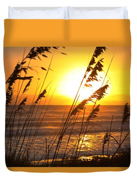Sunrise Silhouette Duvet Cover