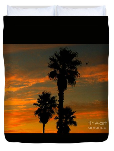 Sunrise Silhouettes Duvet Cover by Janice Westerberg