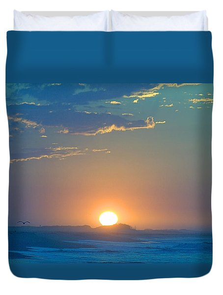 Duvet Cover featuring the photograph Sunrise Sky by  Newwwman