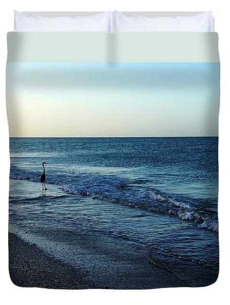 Sunrise Solitude Duvet Cover by Debbie Oppermann