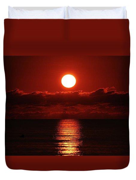 Sunrise Spotlight Delray Beach Florida Duvet Cover