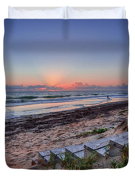 Sunrise Stairs Duvet Cover