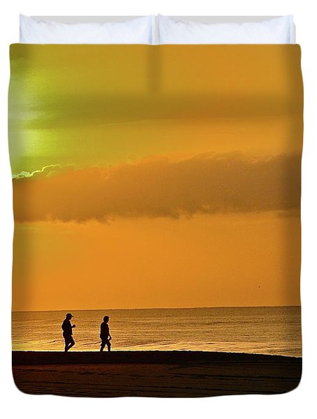 Sunrise Stroll Duvet Cover