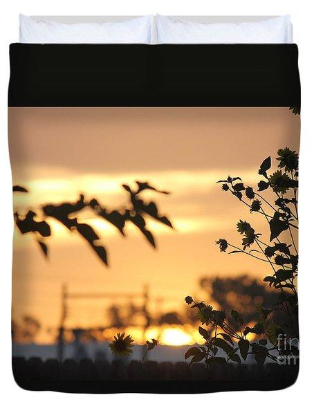 Sunrise Sunflowers Duvet Cover