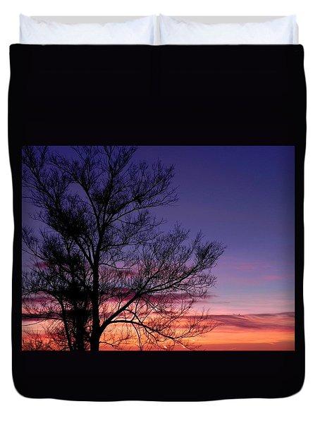 Sunrise, Sunrise Duvet Cover by Adrienne Petterson