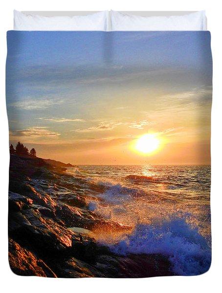 Sunrise Surf Duvet Cover