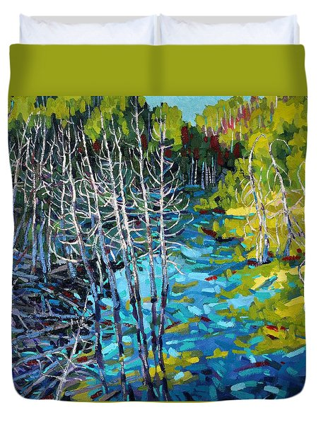 Sunrise Swamp Duvet Cover