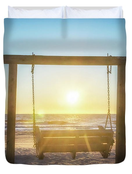 Sunrise Swings Duvet Cover