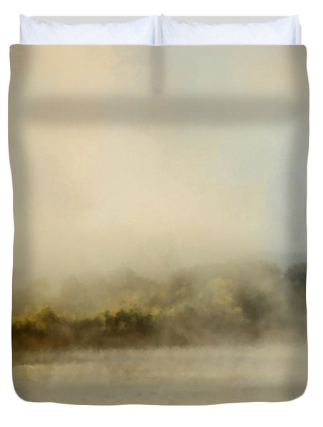 Sunrise Through The Fog Duvet Cover by Jai Johnson