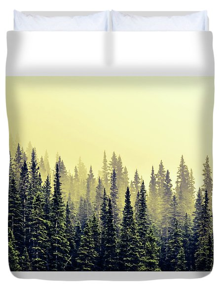 Sunrise Through The Pines Duvet Cover