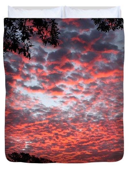Sunrise Through The Trees Duvet Cover